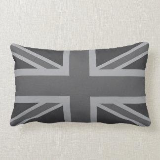 Grey Black Classic Union Jack British(UK) Flag Pillow