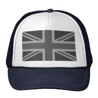 Grey Black Classic Union Jack British(UK) Flag Trucker Hat