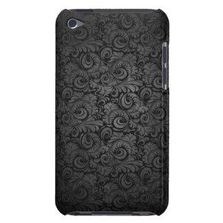 Grey & black Damask pattern ipod case