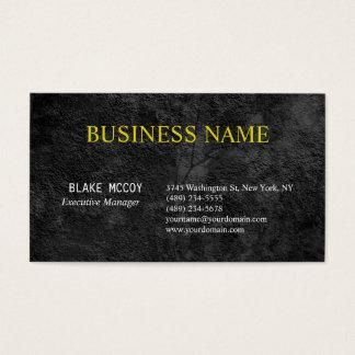 Grey Black Elegant Pattern Classical Professional Business Card