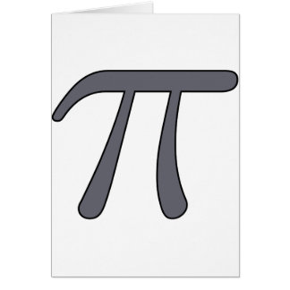 Grey Black Gray Yellow Orange Pi 3.14 symbol Math Greeting Cards