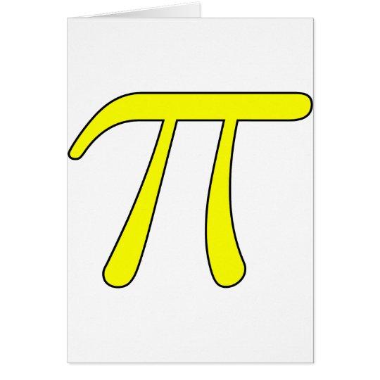 Grey Black Gray Yellow Orange Pi 3.14 symbol Math Card