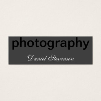Grey Black Out Skinny Photography Business Card