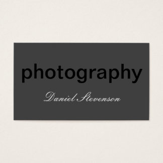 Grey Black Out Standard Photography Business Card