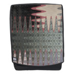 Grey Black Pink Abstract Backpack