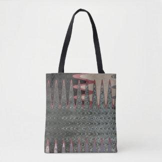 Grey Black Pink Abstract Tote Bag