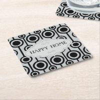Grey black seamless monogram pattern Coasters
