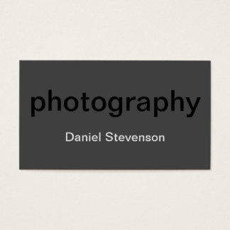 Grey Black Standard Photography Business Card