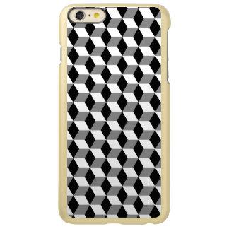 Grey, Black & White 3D Cubes Pattern Incipio Feather Shine iPhone 6 Plus Case