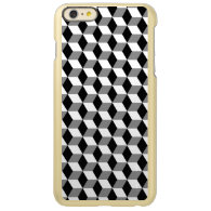 Grey, Black &amp; White 3D Cubes Pattern Incipio Feather&#174; Shine iPhone 6 Plus Case (<em>$67.95</em>)