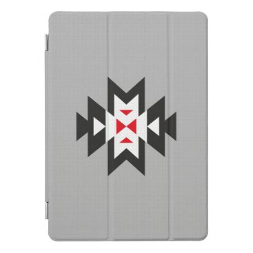 Grey Black White Red Aztec Navajo Pattern iPad Pro Cover