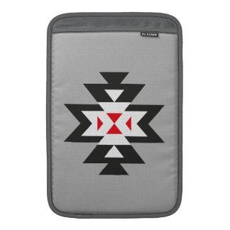 Grey Black White Red Aztec Navajo Pattern Sleeve For MacBook Air
