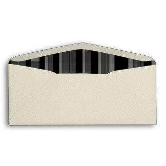 Grey Blk Stripes Envelopes