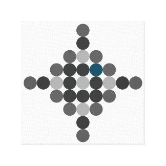 Grey & Blue Aqua Geometric Art Canvas Print