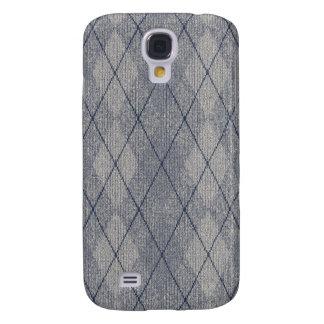 Grey / Blue Arglye Samsung Galaxy S4 Cover