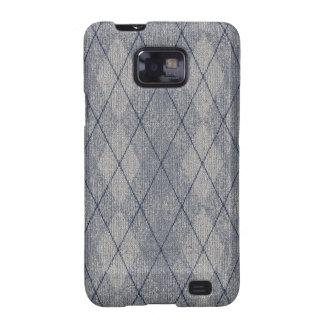 Grey / Blue Arglye Samsung Galaxy S Case Samsung Galaxy S2 Cases