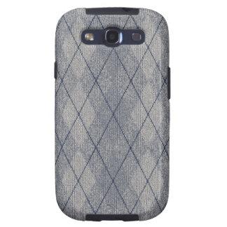 Grey / Blue Arglye Samsung Galaxy S Case Galaxy SIII Cover