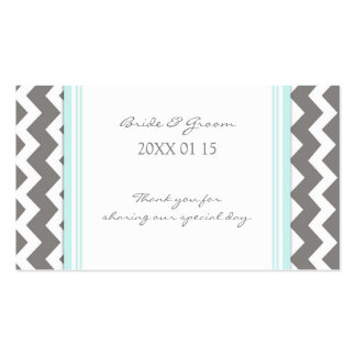 Grey Blue Chevron Wedding Favor Tags Business Card Templates