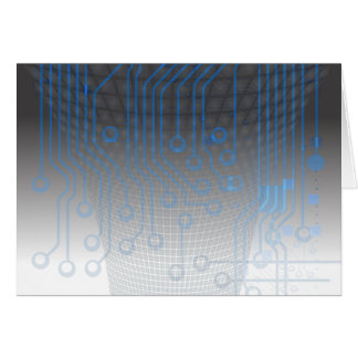 grey blue circuitry abstract design card