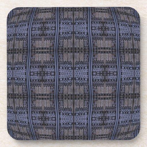 grey blue distressed pattern drink coaster