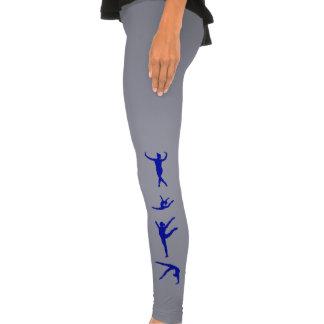 grey blue gymnast gymnastics leggings
