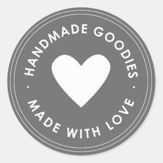 Grey Blue Handmade Goodies Sticker