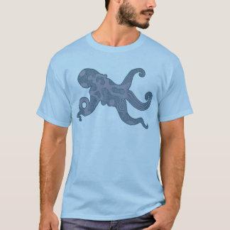 Grey Blue Octopus Shirt