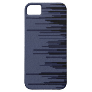 Grey Blue Stripes iPhone 5 Case