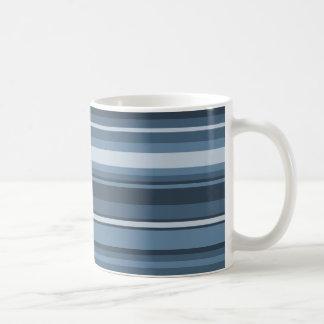 Grey-blue stripes coffee mug
