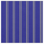 [ Thumbnail: Grey & Blue Stripes Fabric ]