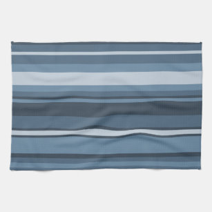 Grey Blue Stripes Kitchen Towel