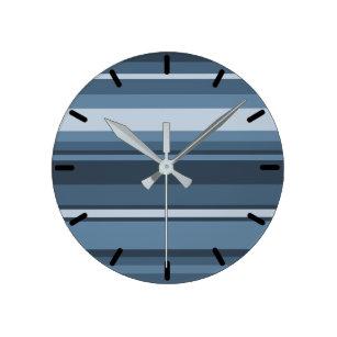 Slate Blue Wall Clocks Zazzle