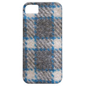 Grey & blue Tartan material Iphone 5 Case