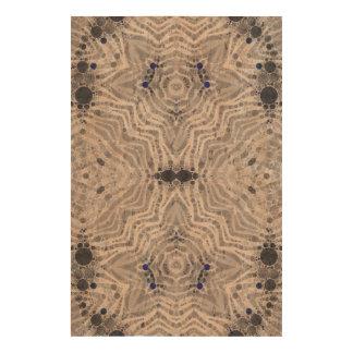 Grey Blue Zebra Funk Cork Fabric