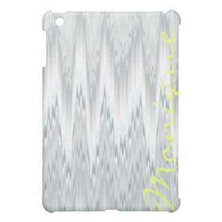 grey blurred zigzag personalized by name case for the iPad mini