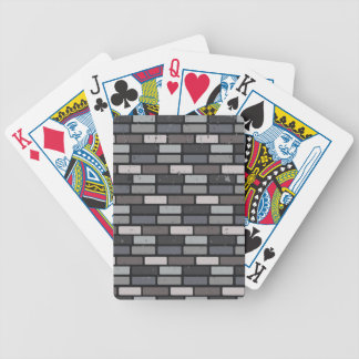Grey brick wall bicycle playing cards
