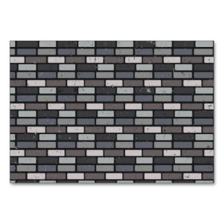 Grey brick wall card