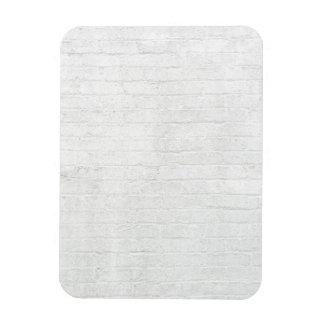 Grey Brick Wall White Bricks Background Texture Rectangular Photo Magnet