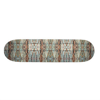 Grey Bricks Abstract Art Symmetrical Design Skateboard