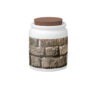 Grey Bricks Candy Jar
