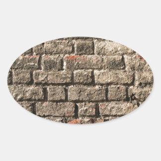 Grey Bricks Oval Sticker