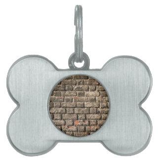 Grey Bricks Pet Tag