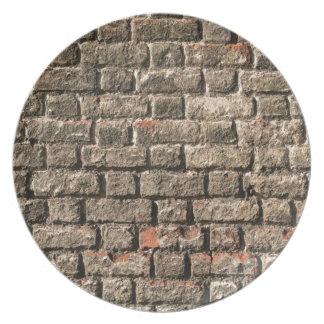 Grey Bricks Dinner Plate