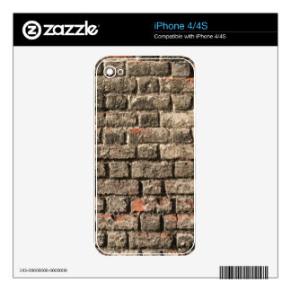 Grey Bricks Skins For The iPhone 4S
