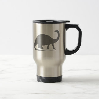 Grey Brontosaurus Travel Mug