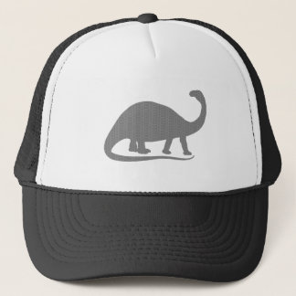 Grey Brontosaurus Trucker Hat