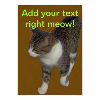Grey Brown Cat Card