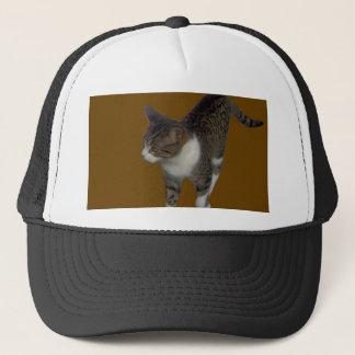 Grey Brown Cat Trucker Hat