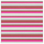 [ Thumbnail: Grey, Brown, Deep Pink & Light Yellow Pattern Fabric ]