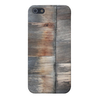 Grey & Brown Wood Planks Protective Case. iPhone SE/5/5s Case